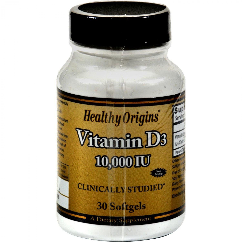 Healthy Origins Vitamin D3 - 10000 IU - 30 Softgels