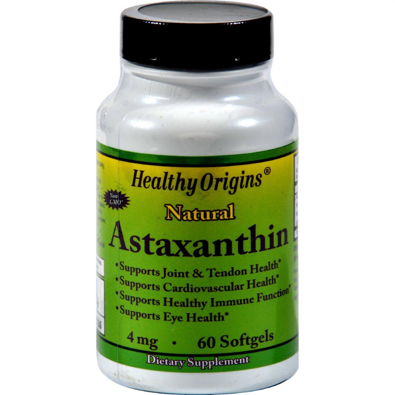 Healthy Origins Astaxanthin - 4 mg - 60 Softgels