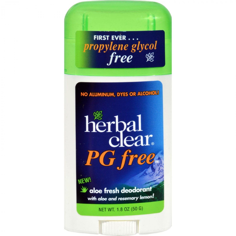 Herbal Clear Deodorant Stick - Aloe Fresh - Pg Free - 1.8 oz