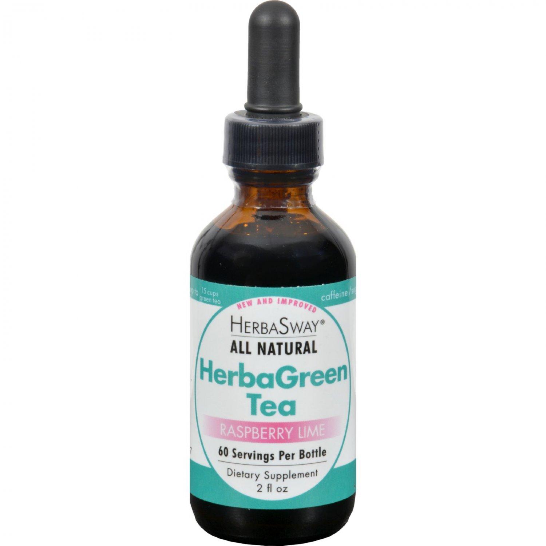 Herbasway Laboratories HerbaGreen Tea Raspberry Lime - 2 fl oz