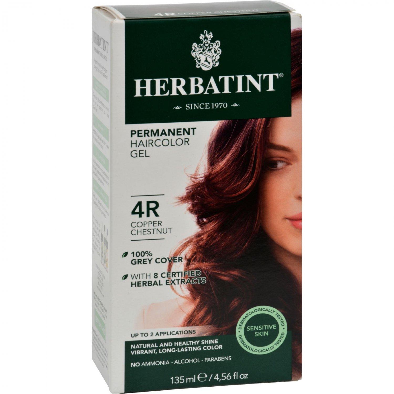 Herbatint Permanent Herbal Haircolour Gel 4R Copper Chestnut - 135 ml