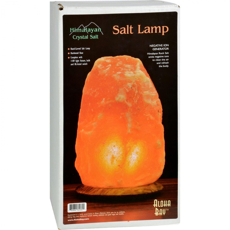 Himalayan Salt Lamp 12 inch Wood Base
