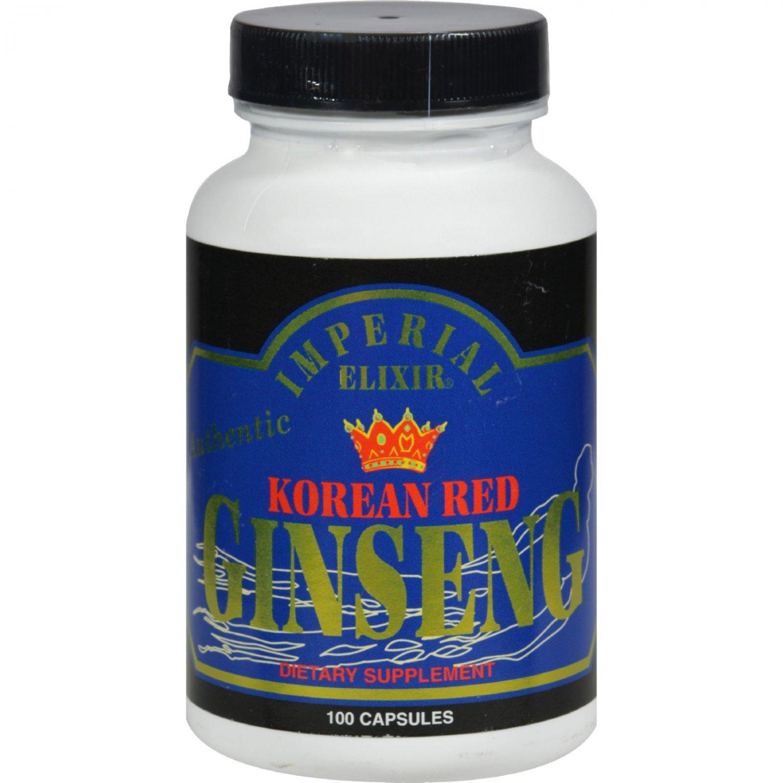 Imperial Elixir Korean Red Ginseng - 300 mg each - 100 Capsules