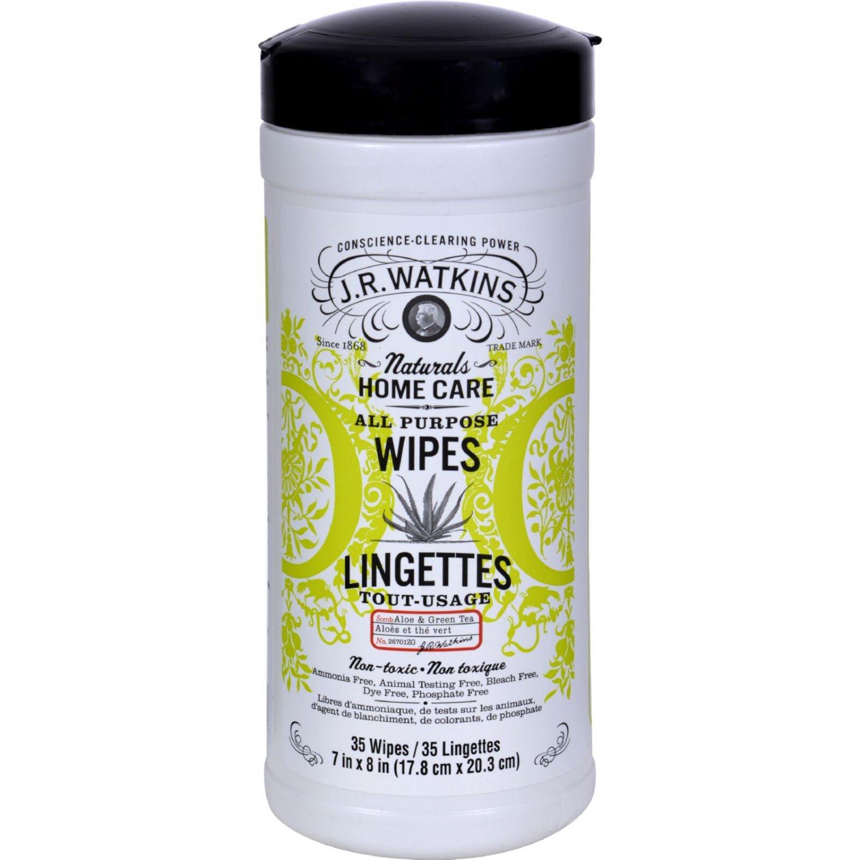 J.R. Watkins All-Purpose Wipes Aloe And Green Tea - 35 Wipes