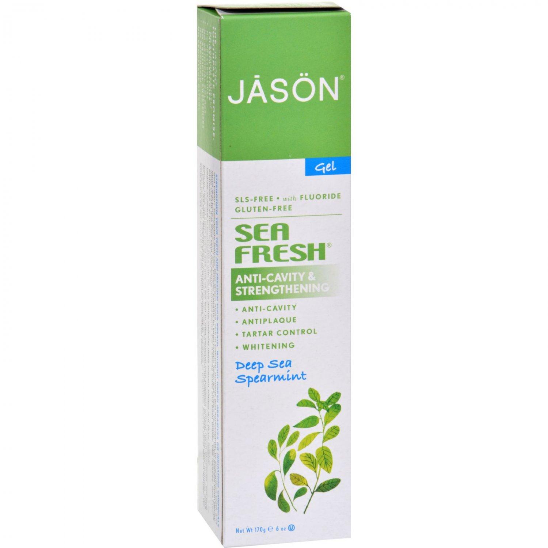 Jason Sea Fresh All Natural Sea Algae CoQ10 Tooth Gel Deep Sea Spearmint - 6 oz