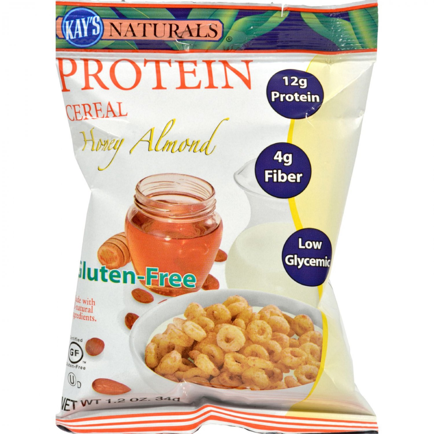 Kay's Naturals Protein Cereal Honey Almond - 1.2 oz - Case of 6