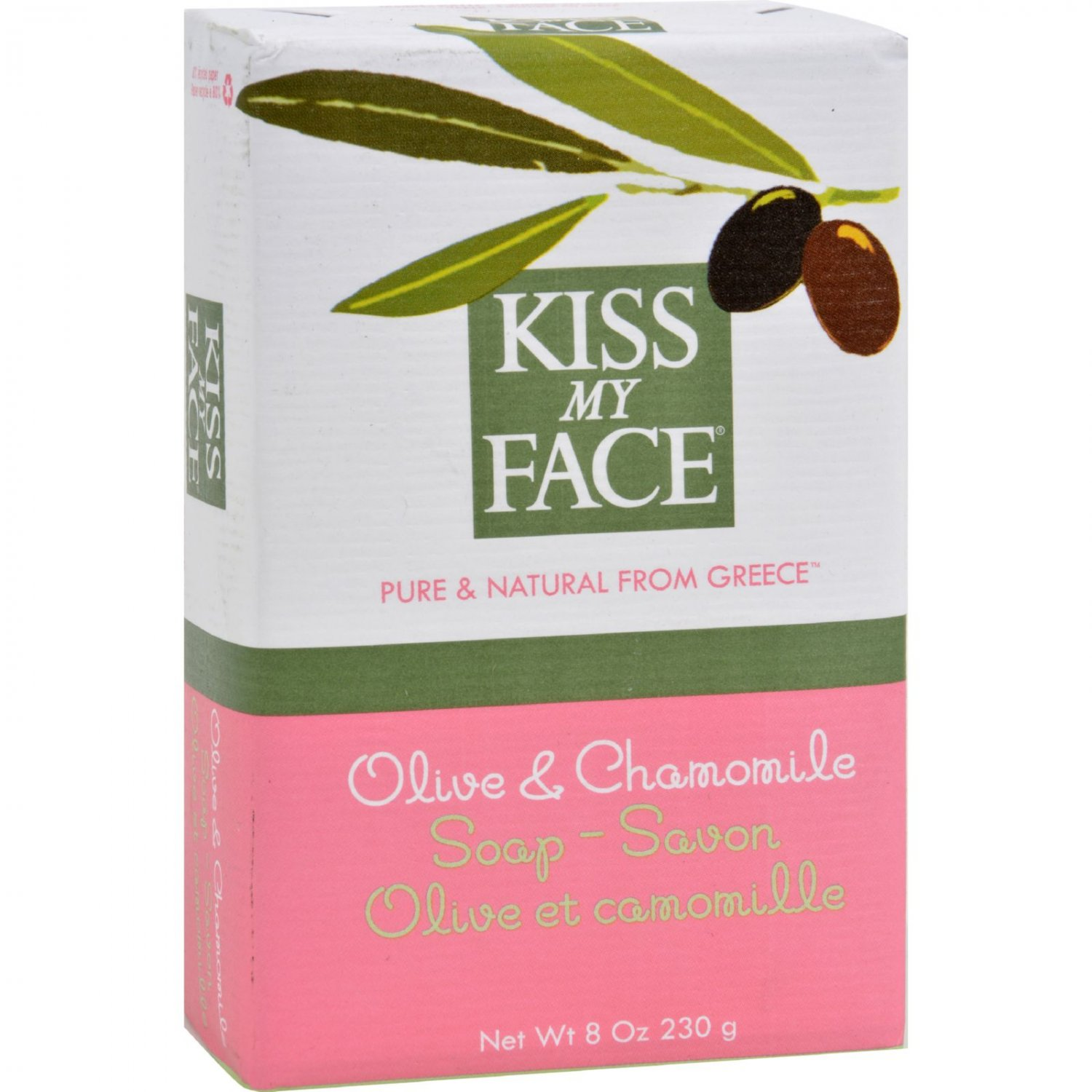 Kiss My Face Bar Soap Olive and Chamomile - 8 oz