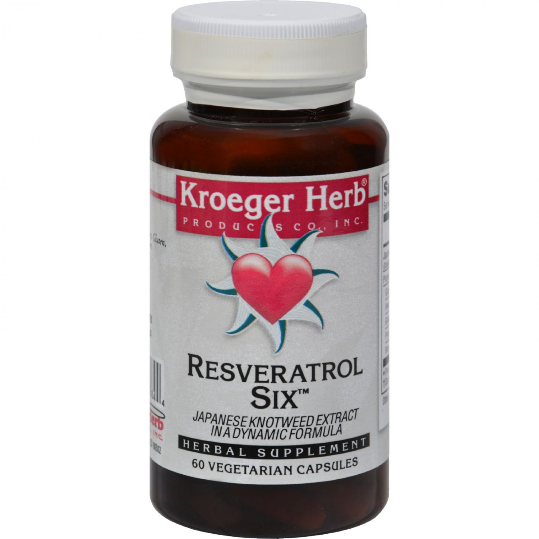 Kroeger Herb Resveratrol Six - 60 Capsules