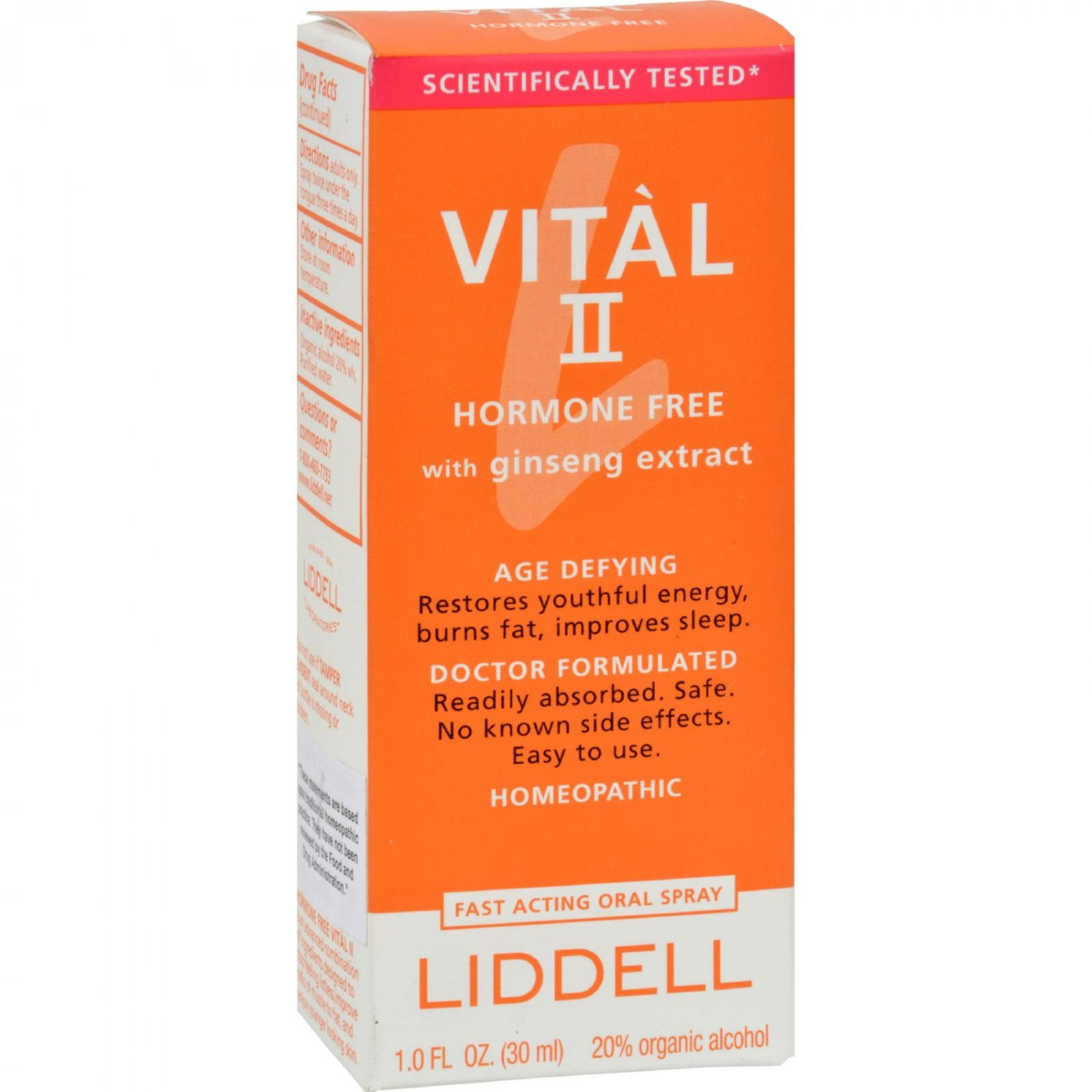 Liddell Homeopathic Vital II Homeopathic Remedy to Increase Energy - 1 oz