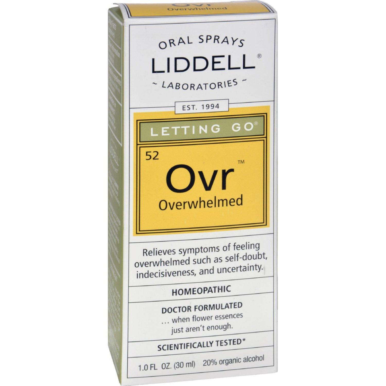 Liddell Homeopathic Letting Go Overwhelmed Spray - 1 fl oz