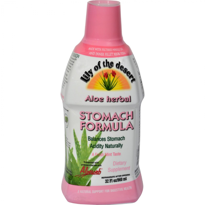 Lily of the Desert Aloe Herbal Stomach Formula Fresh Mint - 32 fl oz
