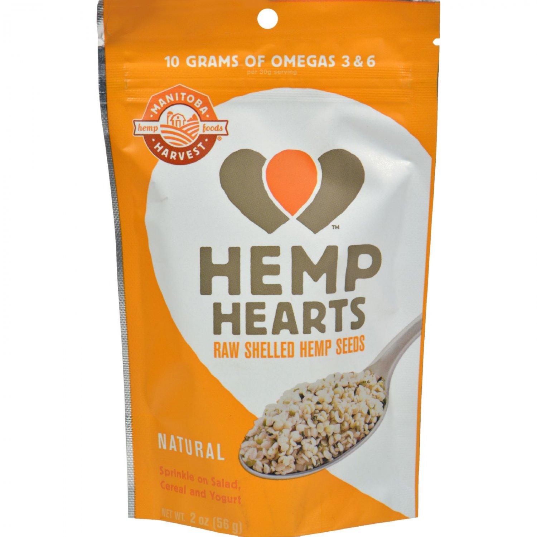 Manitoba Harvest Natural Hemp Hearts - Case of 12 - 2 oz