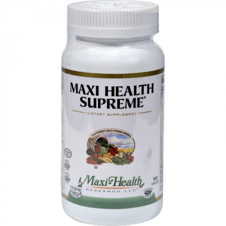 Maxi Health Supreme Vit and Min - 180 Tablets