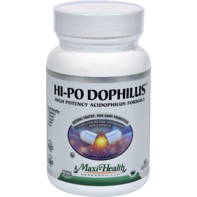 Maxi Health Hi-Po Dophilus High Potency Acidophilus Formula - 60 Caps