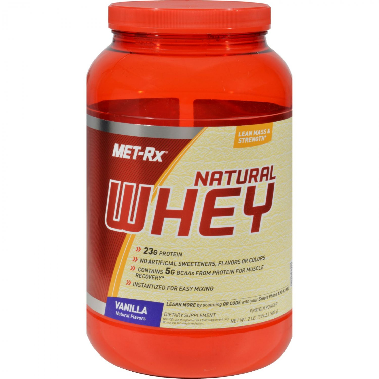 Met-Rx Instantized Natural Whey Protein Vanilla - 2 lbs