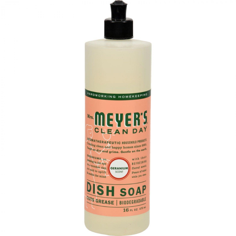 Mrs. Meyer's Liquid Dish Soap - Geranium - Case of 6 - 16 oz