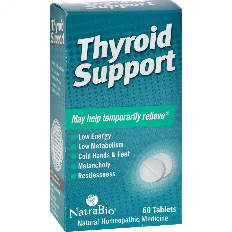NatraBio Thyroid Support - 60 Tablets