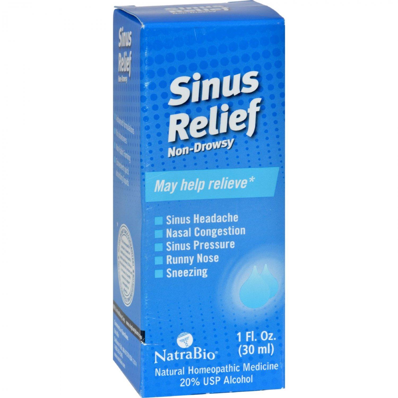 NatraBio Sinus Relief Non-Drowsy - 1 fl oz