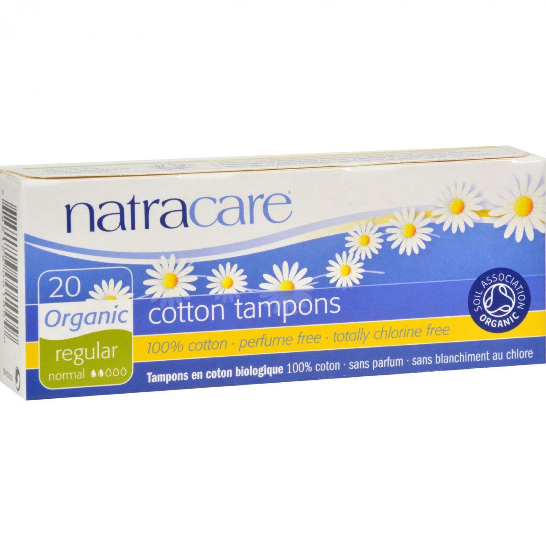 Natracare 100% Organic Cotton Tampons Regular - 20 Tampons