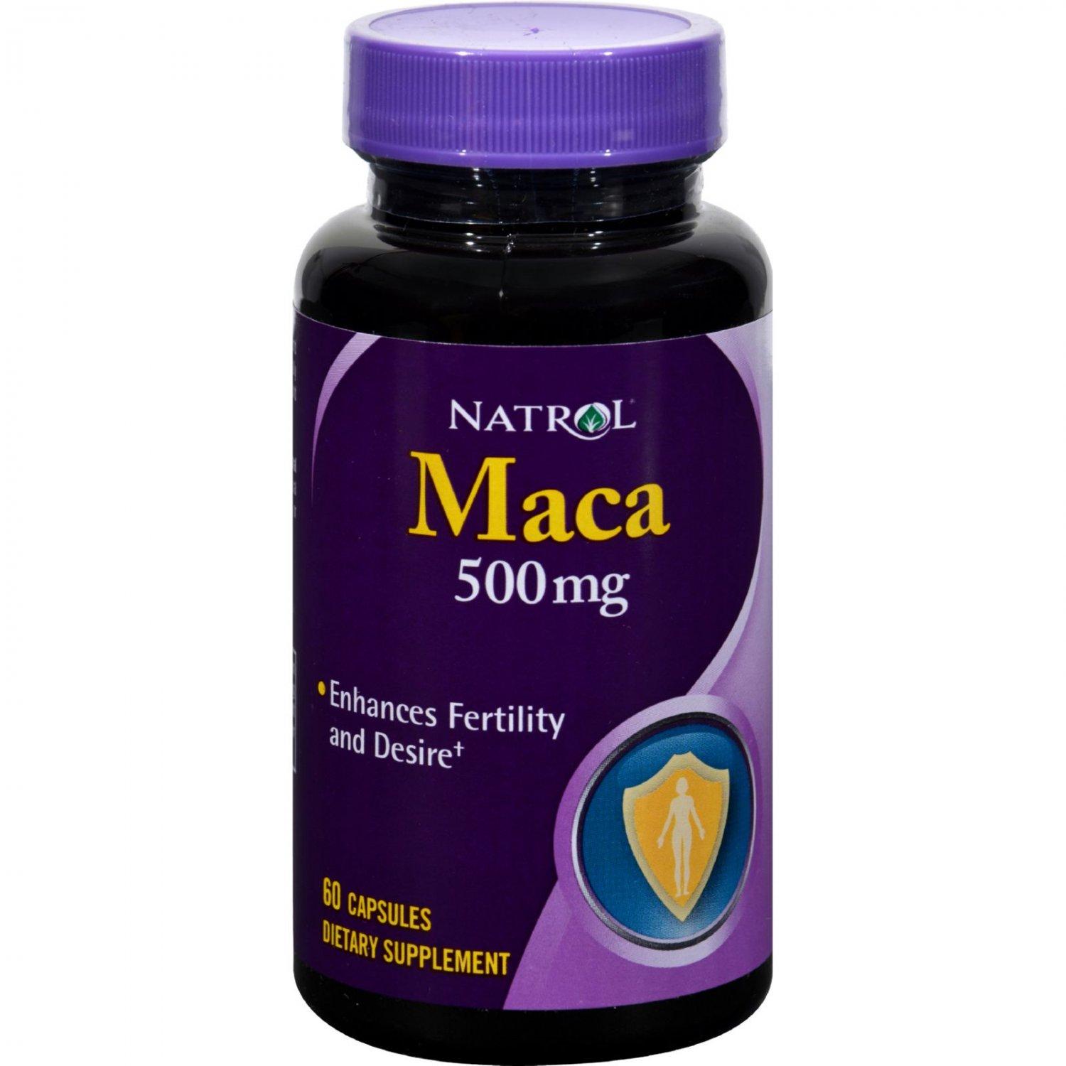Natrol Maca - 500 mg - 60 Capsules