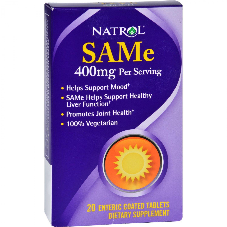Natrol SAMe - 200 mg - 20 Tablets