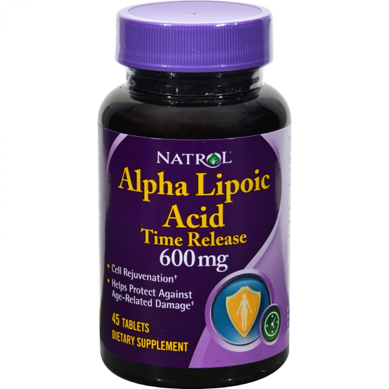 Natrol Alpha Lipoic Acid Time Release - 600 mg - 45 Tablets
