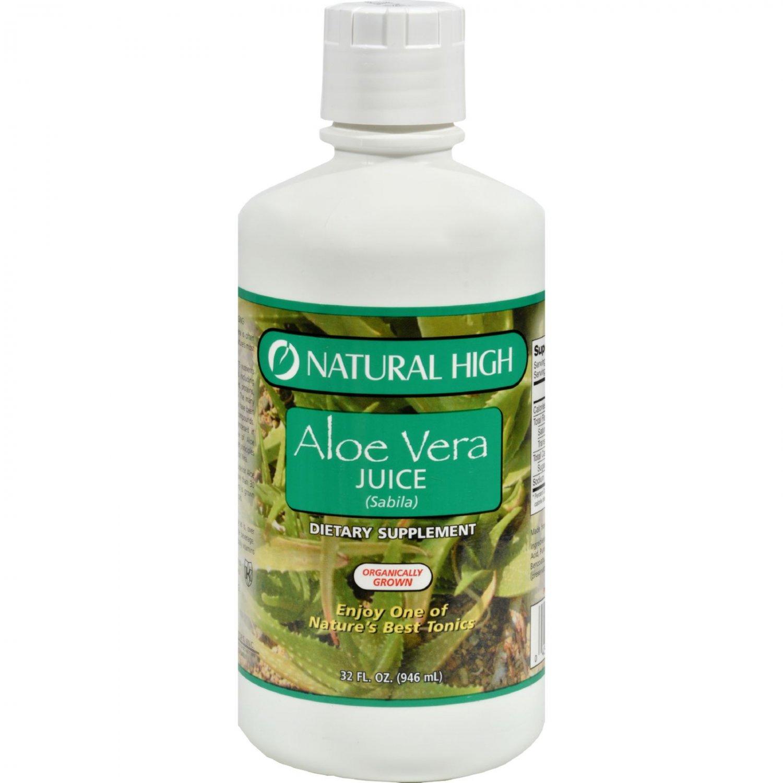 Natural High Aloe Vera Juice - Case of 12 - 32 oz