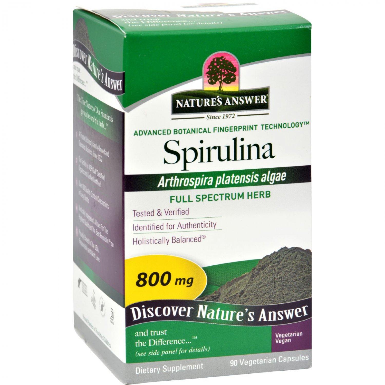 Nature's Answer Spirulina - 90 Capsules