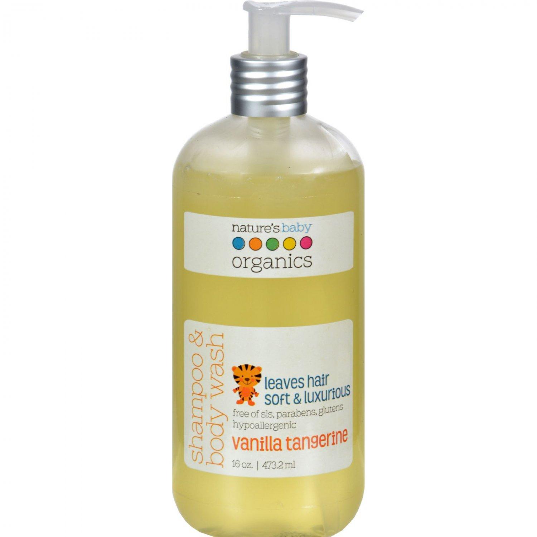 Nature's Baby Organics Shampoo and Body Wash Vanilla Tangerine - 16 fl oz