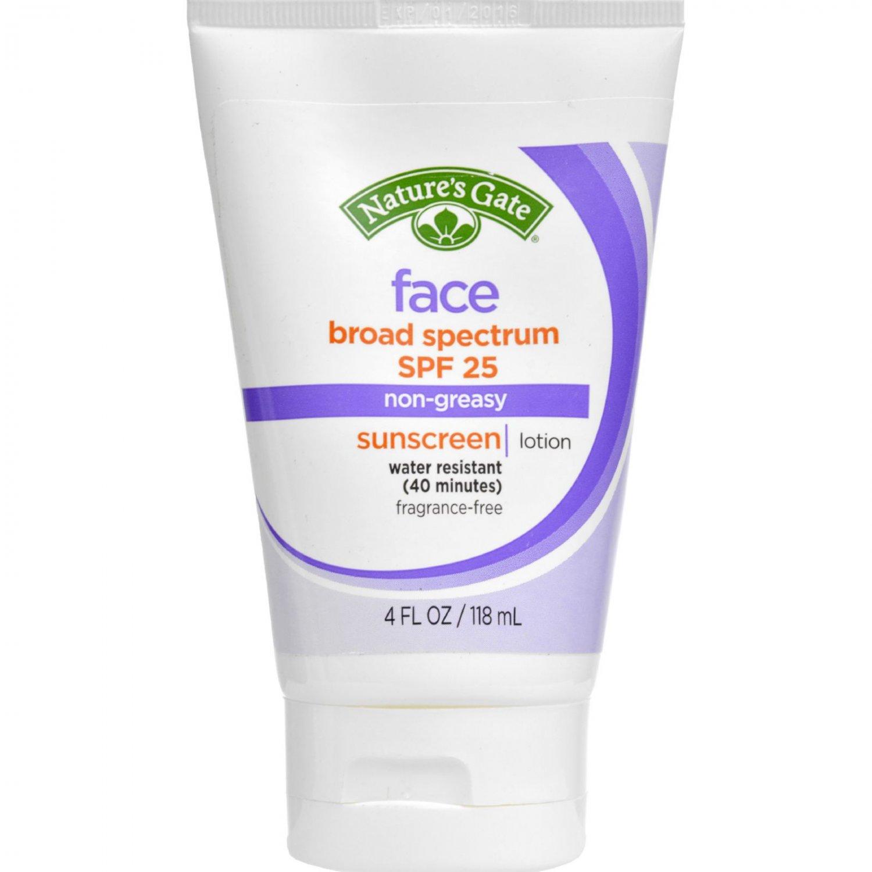 Nature's Gate Faceblock Sunscreen - Fragrance Free Broad Spectrum SPF 25 - 4 fl oz