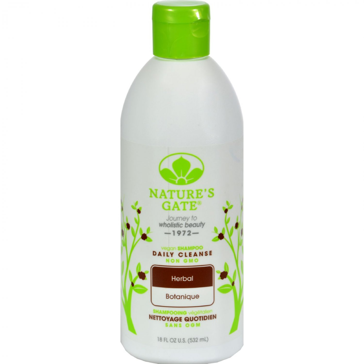 Nature's Gate Herbal Daily Cleansing Shampoo - Case of 12 - 18 oz