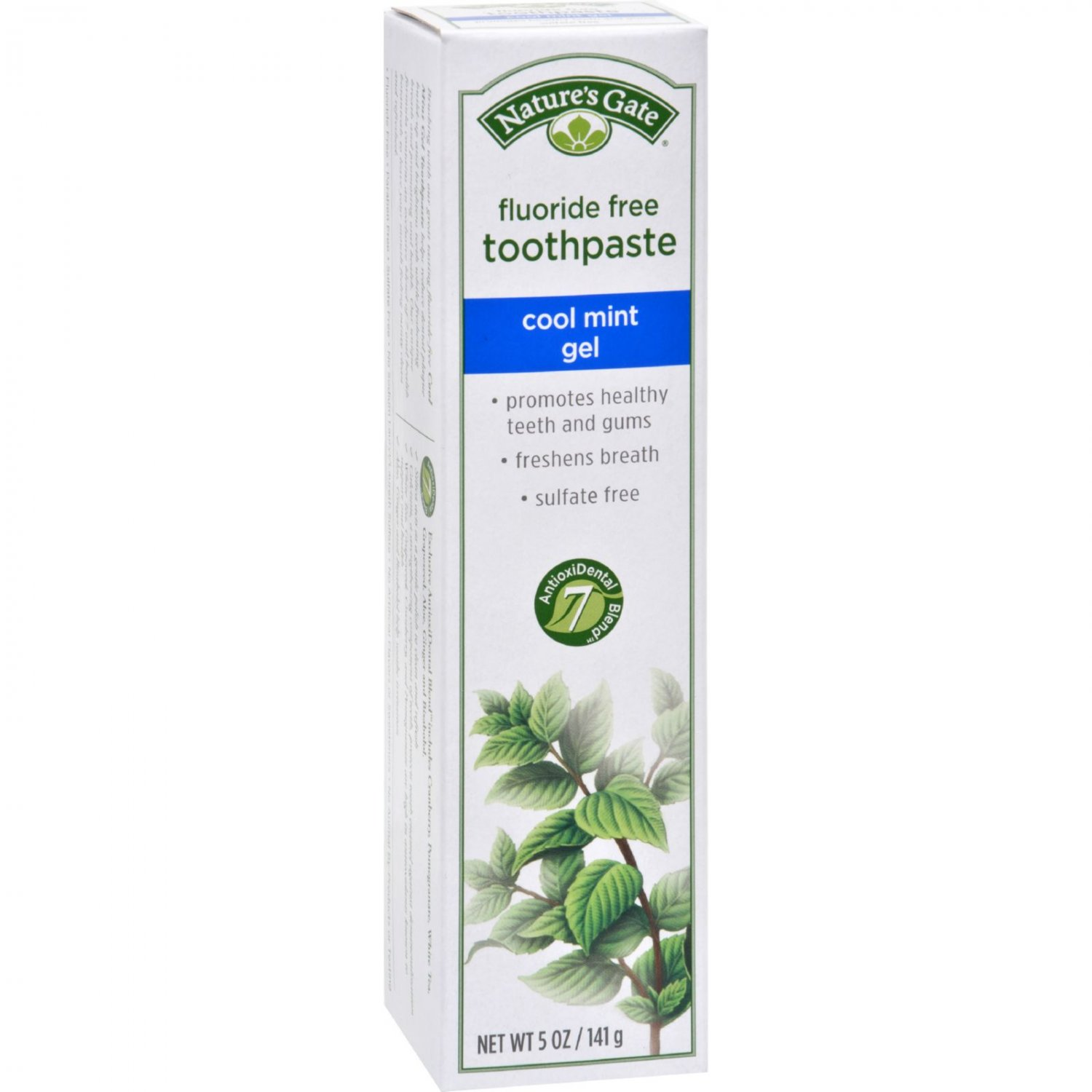 Nature's Gate Natural Toothpaste Gel Flouride Free Cool Mint - 5 oz - Case of 6