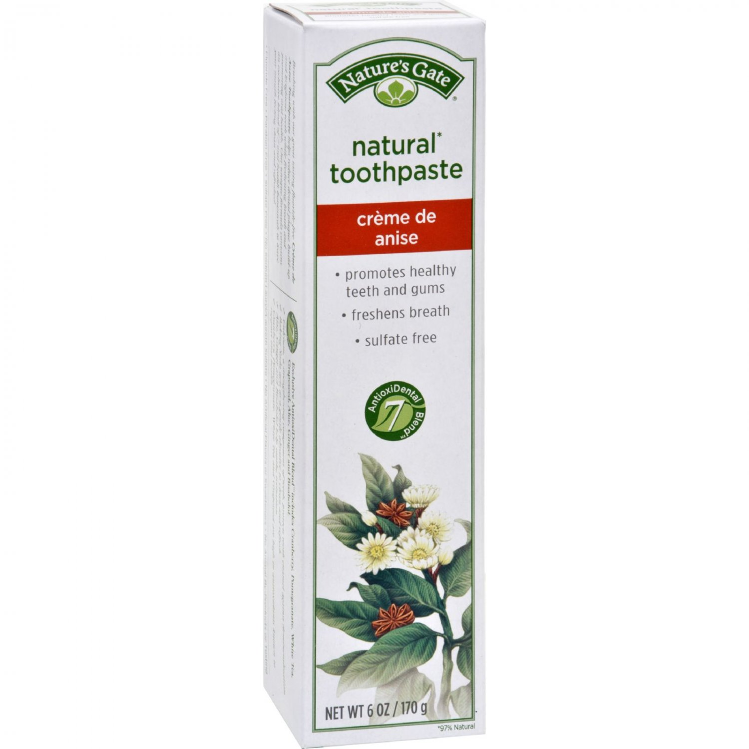 Nature's Gate Natural Toothpaste Creme de Anise - 6 oz - Case of 6