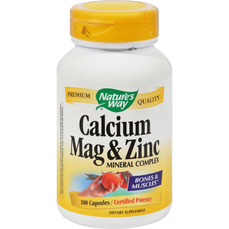 Nature's Way Calcium Mag and Zinc Mineral Complex - 100 Capsules