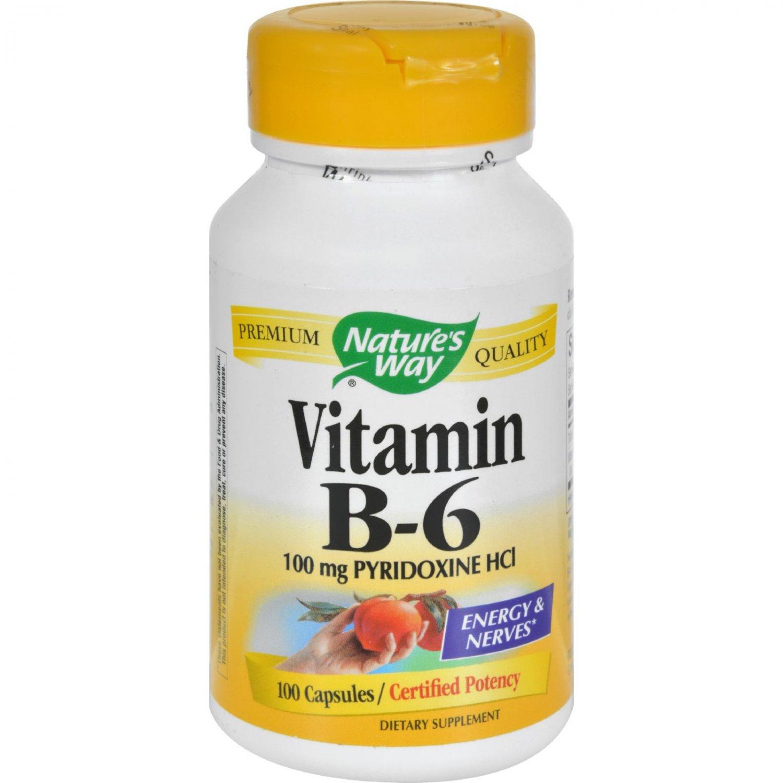 Nature's Way Vitamin B-6 - 100 mg - 100 Capsules