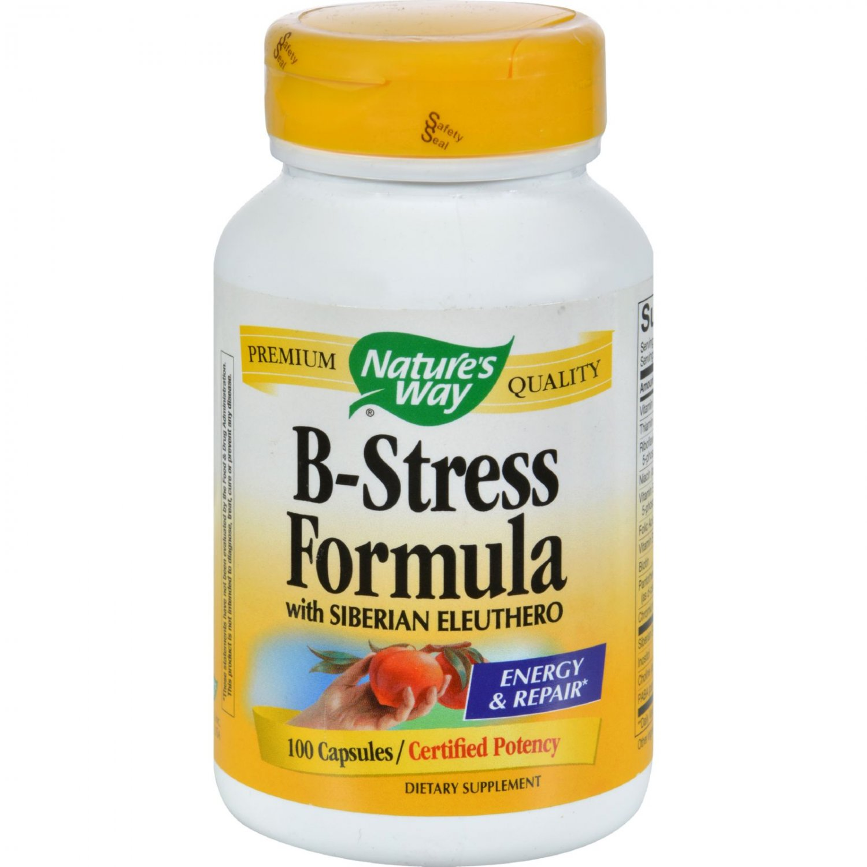 Nature's Way B-Stress Formula with Siberian Eleuthero - 100 Capsules