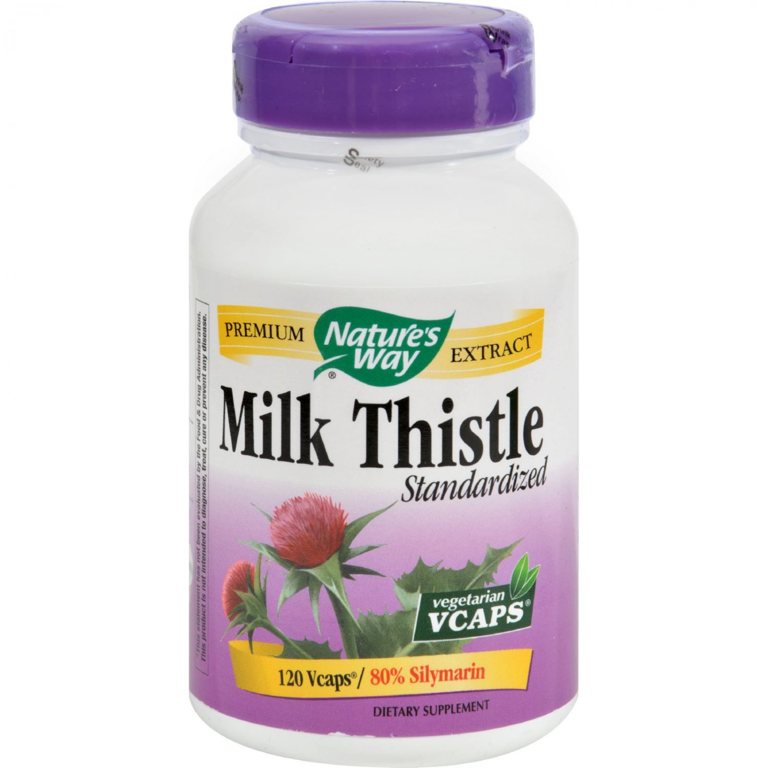 Nature's Way Milk Thistle Standardized - 120 Vegetarian Capsules