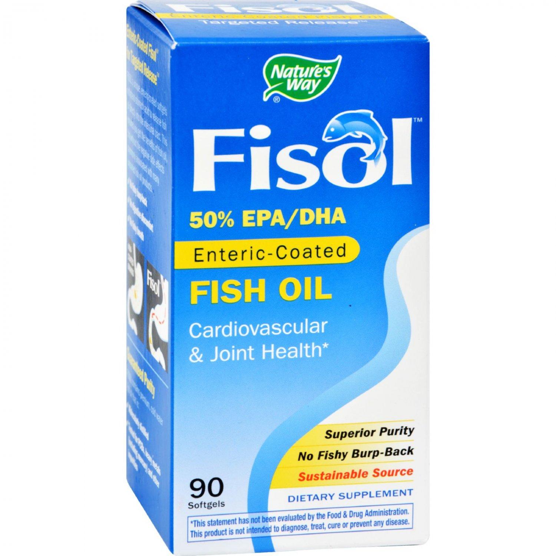 Nature's Way Fisol Fish Oil - 90 Softgels
