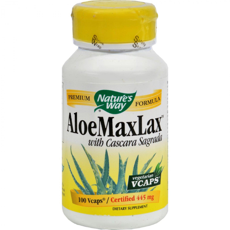 Nature's Way AloeMaxLax with Cascara Sagrada - 100 Vegetarian Capsules