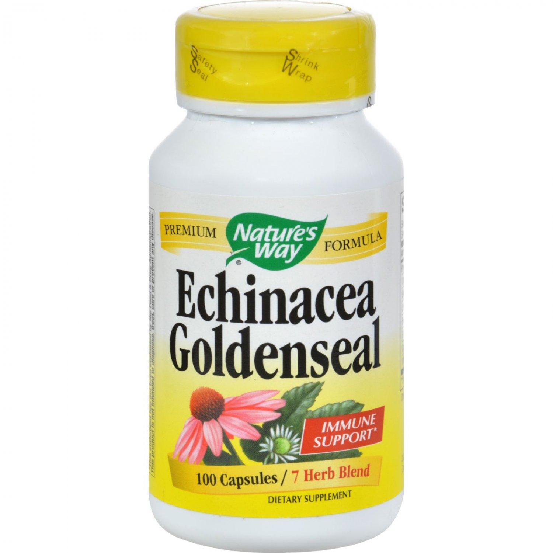 Nature's Way Echinacea Goldenseal - 100 Capsules
