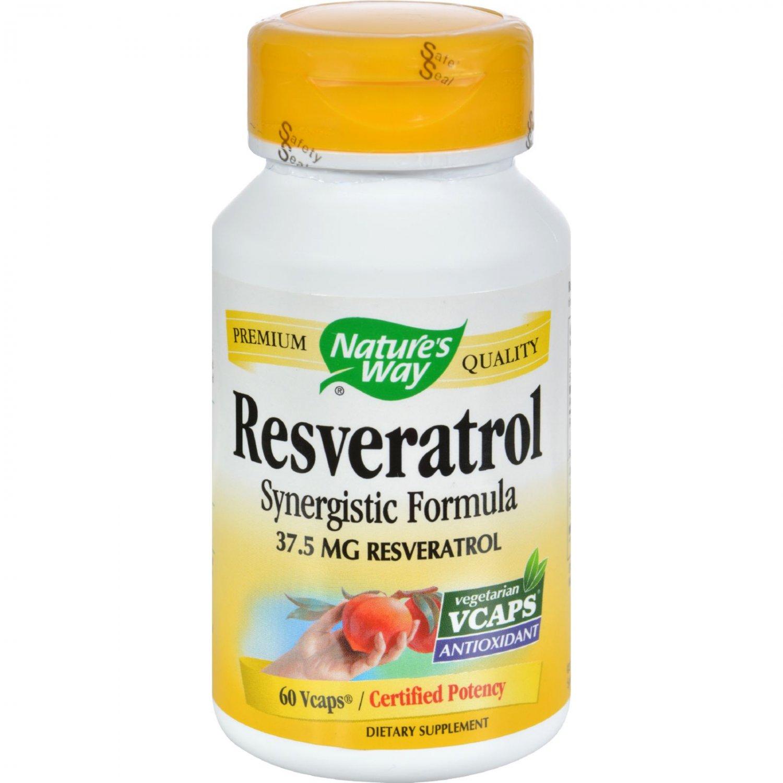 Nature's Way Resveratrol - 60 Vegetarian Capsules