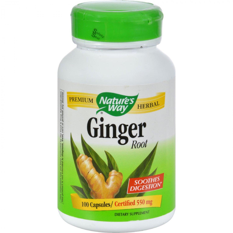 Nature's Way Ginger Root - 100 Capsules