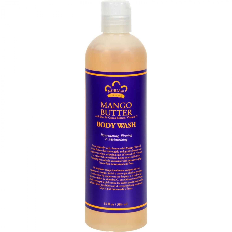Nubian Heritage Body Wash Mango Butter - 13 fl oz