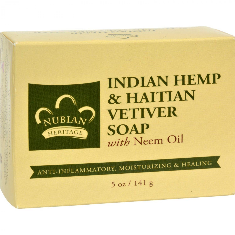 Nubian Heritage Bar Soap Indian Hemp And Haitian Vetiver - 5 oz