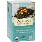 Numi Aged Earl Grey Bergamot Black Tea - 18 Tea Bags - Case of 6