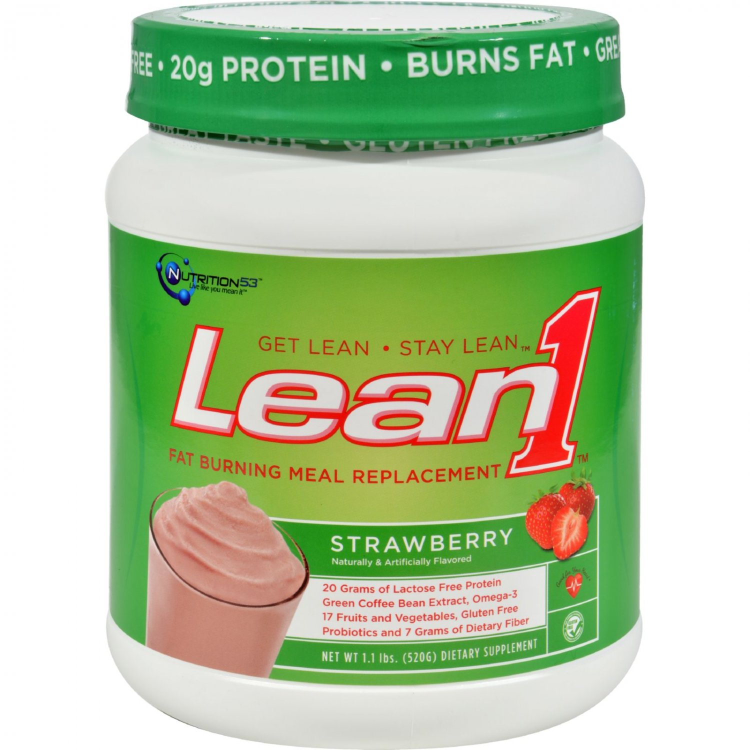 Nutrition53 Lean1 Shake - Strawberry - 1.2 lbs