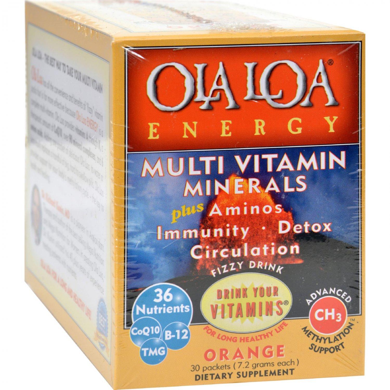 Ola Loa Products Energy Multi Vitamin - Orange - 30 Packet