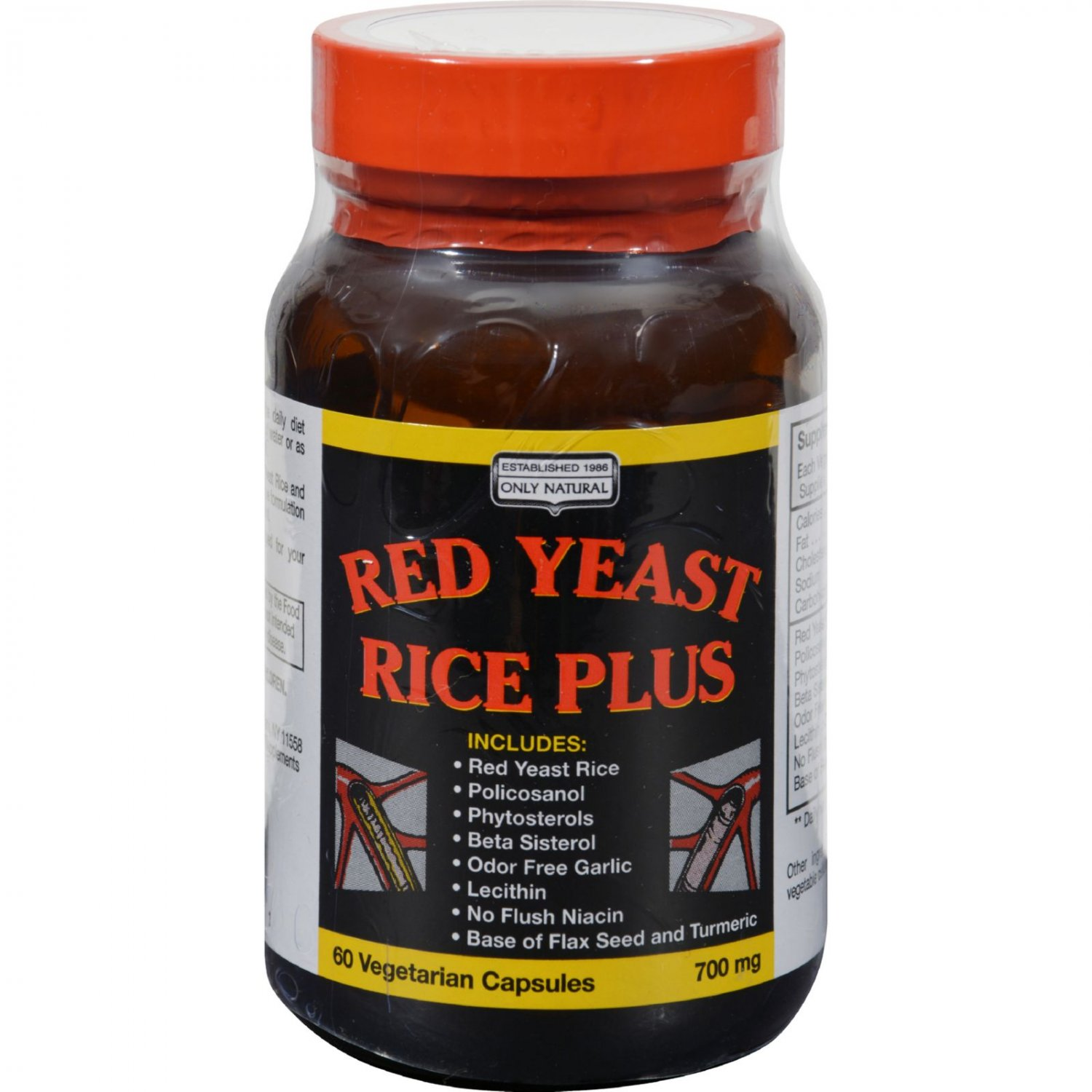 Only Natural Red Yeast Rice Plus - 60 Vcaps