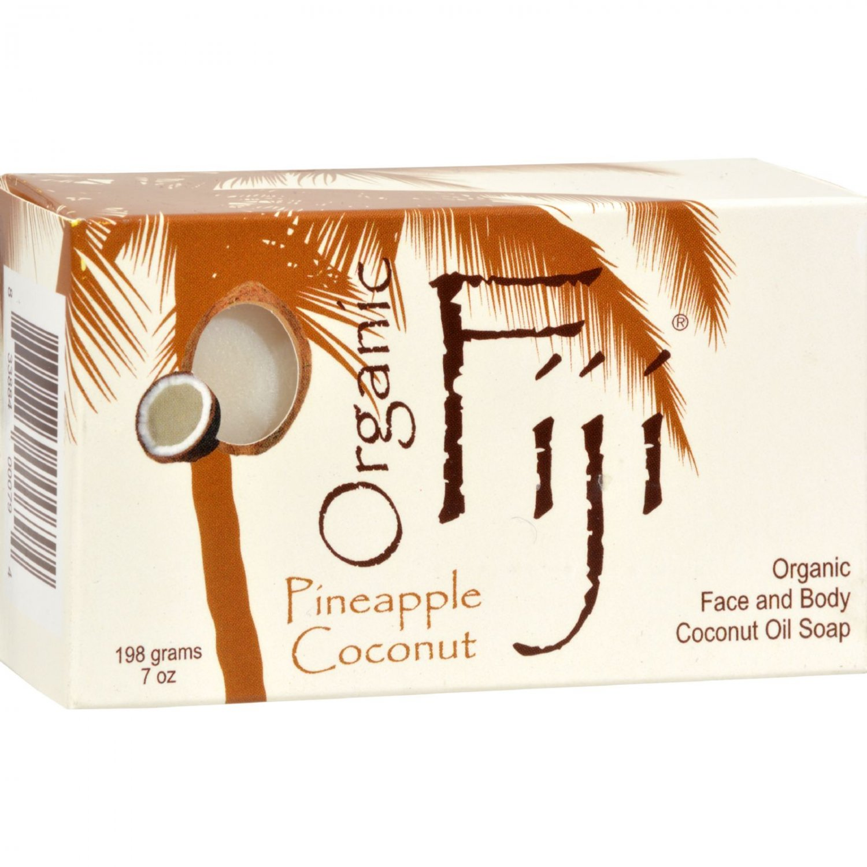 Organic Fiji Organic Face and Body Coconut Oil Soap Pineapple Coconut - 7 oz