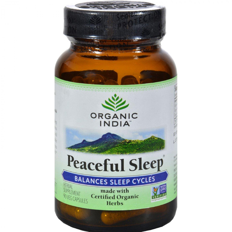 Organic India Peaceful Sleep - Organic - 90 Vegetarian Capsules